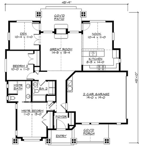 plan 23264jd vaulted one bungalow bungalow craftsman and