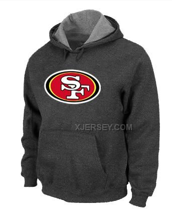 http://www.xjersey.com/san-francisco-49ers-logo-pullover-hoodie-dgrey.html Only$50.00 SAN FRANCISCO 49ERS LOGO PULLOVER HOODIE D.GREY #Free #Shipping!