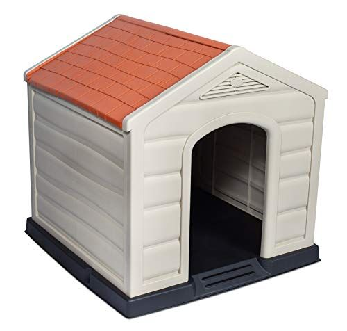 Internet S Best Outdoor Dog House Medium Large Dogs Comfortable Cool Shelter Durable Plastic Desig Outdoor Dog House Igloo Dog House Indoor Dog House Diy