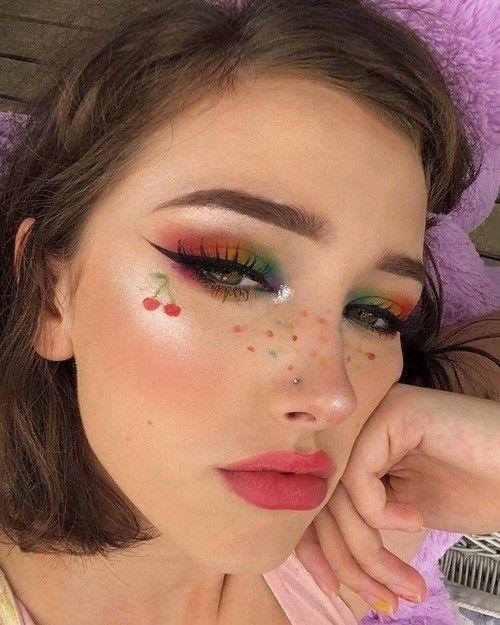 Pin By Charice On Makeup Creative Makeup Looks Pride Makeup Creative Eye Makeup