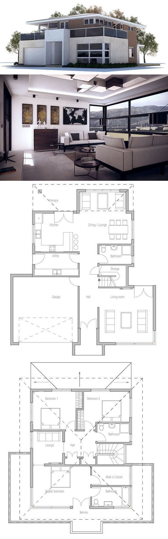 Hausplan haus idee hauspl ne pinterest house plans for Haus plan