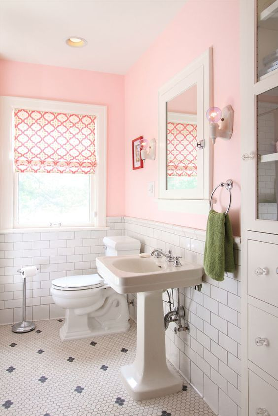 Image Result For Pink Black And White Bathroom Ideas Hot Pink Bathrooms Vintage Apartment Black White Bathrooms