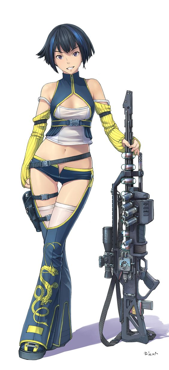 Anime Character 2d : Steampunk anime girl with gun ppj pinterest sexy