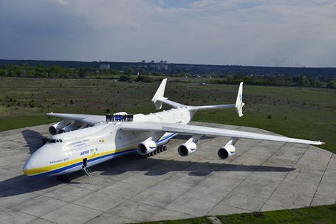 Antonov An-225 Mriya, world's largest plane. Six engines! And look at that tail!