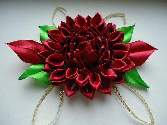 Ribbon flower | Easy Craft Ideas