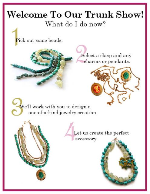 Making a Necklace at Sloan + Themis - projects for non-beaders. (from Missouri)