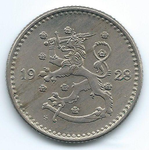 COIN MONEY Finland 1928 1 Markka Lion & Branches Copper  https://ajunkeeshoppe.blogspot.com/  1.P727B413009IMG2263,2264
