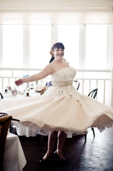A Wedding dress you can twirl in!