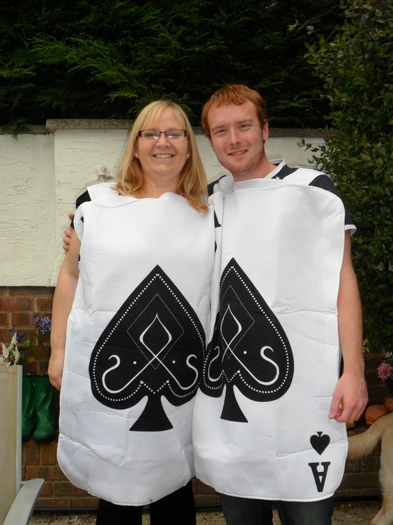 Us dressed as playing cards