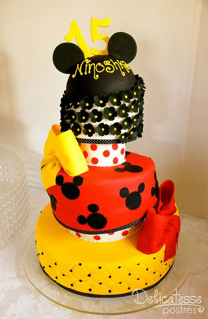Mickey Mouse Layer Cake