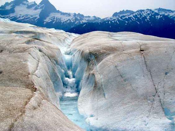 Mendenhall Glacier - Juno, Alaska - one of the most fascinating sights I have ever seen . . . .