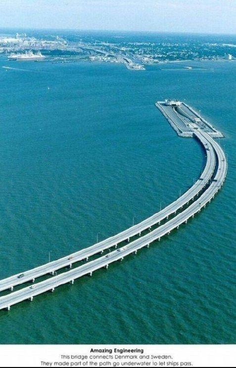 bridge connecting Denmark and Sweden
