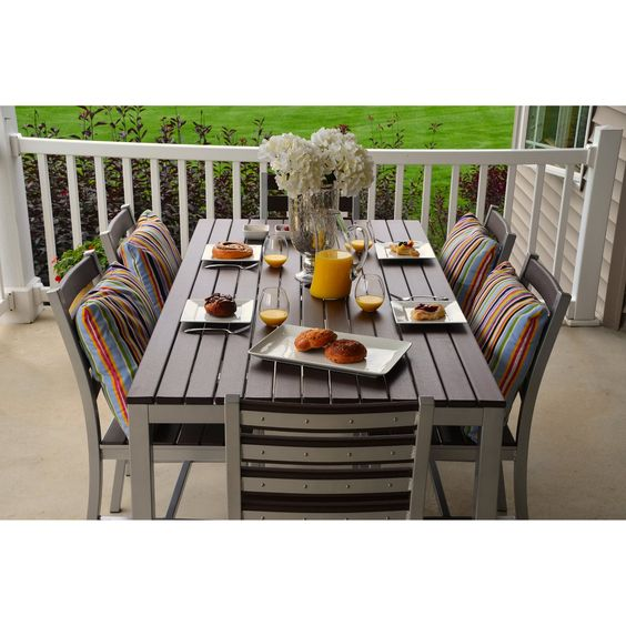 Elan Furniture Loft 72 x 36 in. Outdoor Dining Set - Patio Dining Sets at Hayneedle