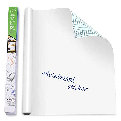 Self Adhesive Whiteboard Wall Decal Sticker 17 7 X 78 7 Https Www Amazon Com Dp B07d9ym8vx Ref Cm Sw R Whiteboard Sticker Dry Erase Wall Whiteboard Wall