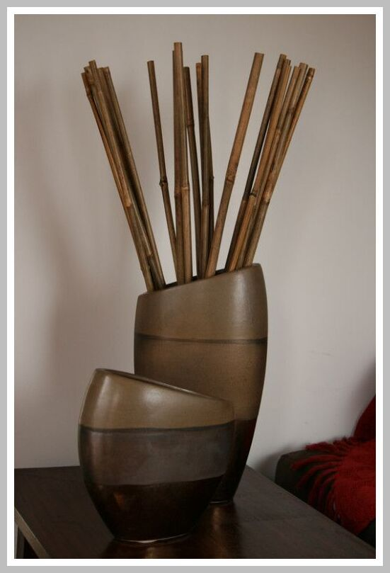 40 Reference Of Large Bamboo Sticks Decoration In 2020 Bamboo Sticks Decor Vases Decor Decorating With Sticks