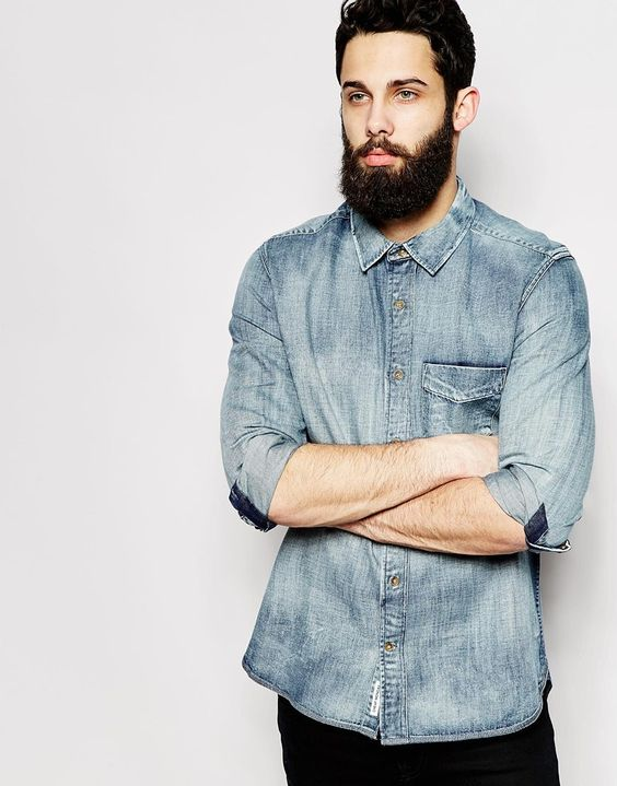 Image 1 of Cheap Monday Denim Shirt Sunbleach Wash | Shirts
