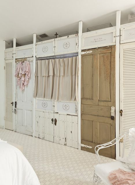 I think this is a wall of closet storage awesome idea for the home pinterest bedroom - Closet doors for small spaces pict ...