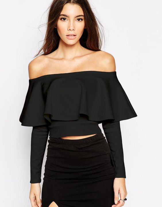 SHOP: 16 Modern Ruffles and Frills for a Fashion Girl - Oh My Love Crop Top With Frill Sleeve, $50; at ASOS: