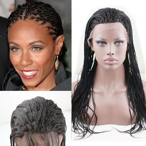 Human Hair Braid Wigs Black 100 Brazilian 360 Full Lace Front Wig