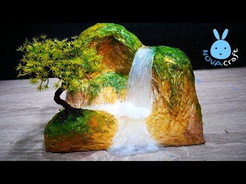 Diy Newspaper Waterfall Hot Glue Waterfall Realistic Tutorial Easy Hot Glue Nova Craft Youtube Hot Glue Hot