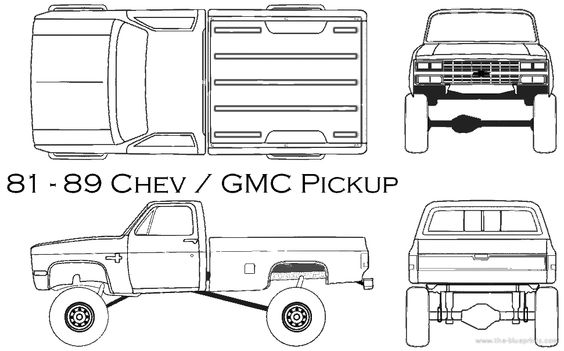1981 chevy truck drawing com blueprints cars chevrolet chevrolet gmc pickup 1985. Black Bedroom Furniture Sets. Home Design Ideas