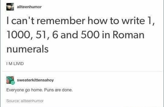 A Roman Walks Into A Bar Holds Up Two Fingers And Says Five