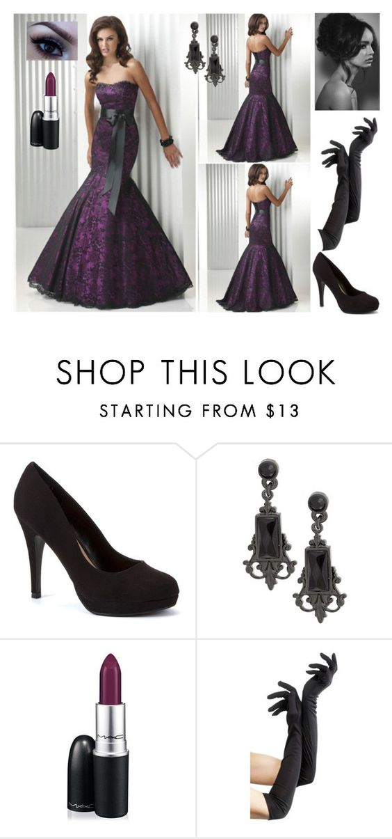 """Untitled #433"" by creaturesinthedark ❤ liked on Polyvore featuring Sherri Hill, 1928 and MAC Cosmetics"