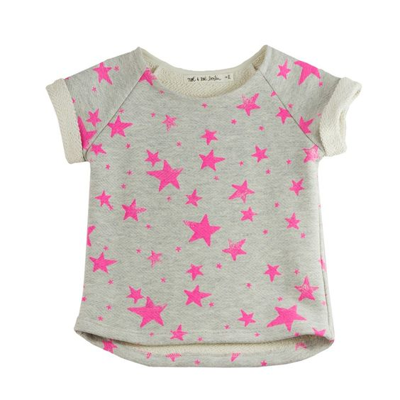 Raglan Short Sweater Pink Stars From Berlin with Love: Noé & Zoë