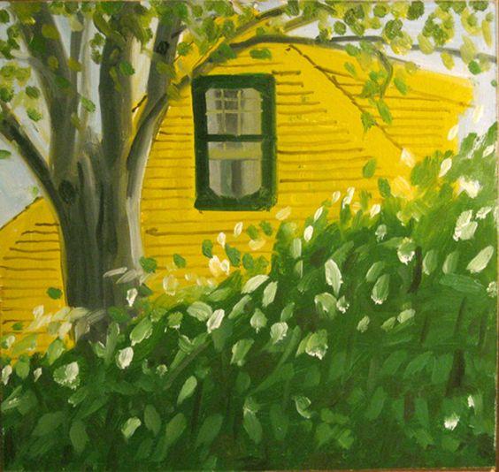 "Alex Katz (USA b. 1927)Study for Yellow House, 1982oil on board 11 ½"" x 12"""