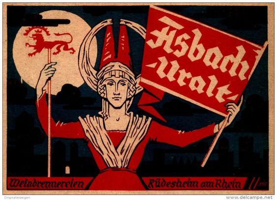 Original-Werbung/ Anzeige 1927 - ASBACH URALT  - ca. 135 X 90 mm