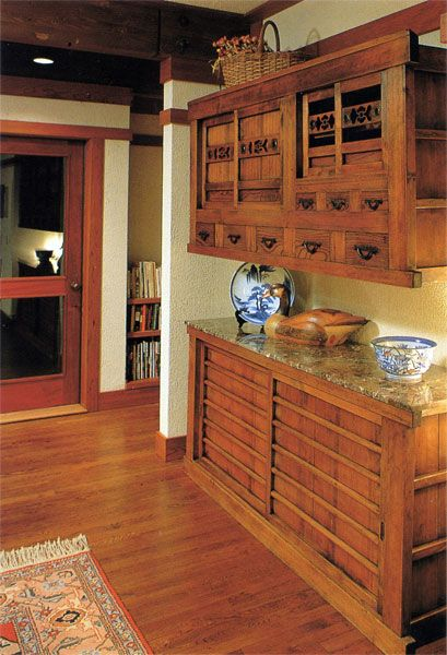 In modern useage tansu is the popular word most commonly for Traditional japanese kitchen