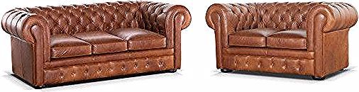 Canape Chesterfield 3 2 Places 100 Cuir Londres Cuir Vintage Caramel Chesterfield Chair Chesterfield Decor