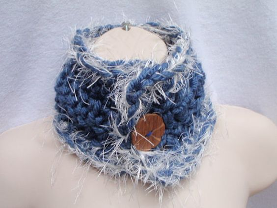 Charlotte Neckwarmer with Wooden Button Choose Your by Spasojevich, $25.00