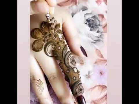 نقش حناء للاصابع Youtube Henna Designs Hand Mehndi Designs Bridal Mehendi Designs Hands