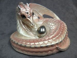 Windstone-Editions-Shell-Pink-Mother-Coiled-Dragon-Figurine-Statue-Mythical
