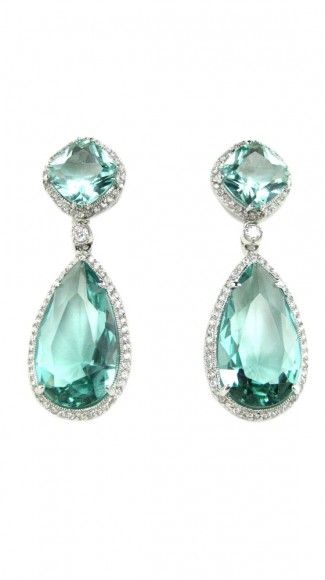 Aqua teardrops earrings