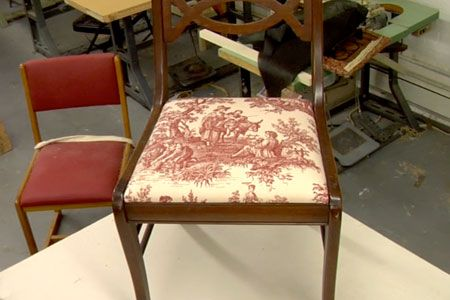 Furniture expert Matthew Haly shows how to bring new life to a worn chair seat