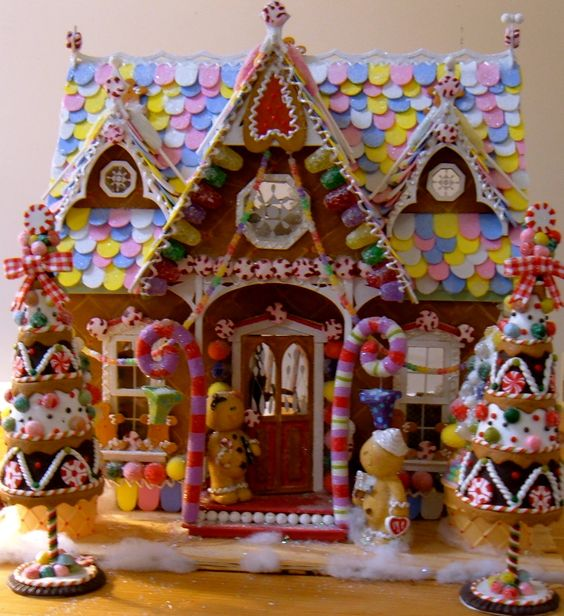 Candyland christmas door decoration how to make fake