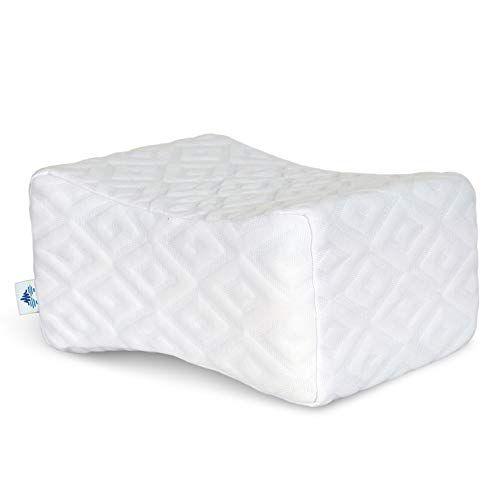 Pharmedoc Memory Foam Knee Pillow Orthopedic Knee Wedge Pillow For Side Sleepers Leg Support Layered Memory Foam Good