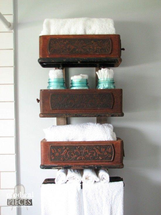 treadle sewing machine repurposed