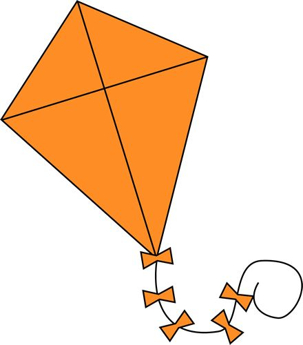clipart kite flying - photo #47