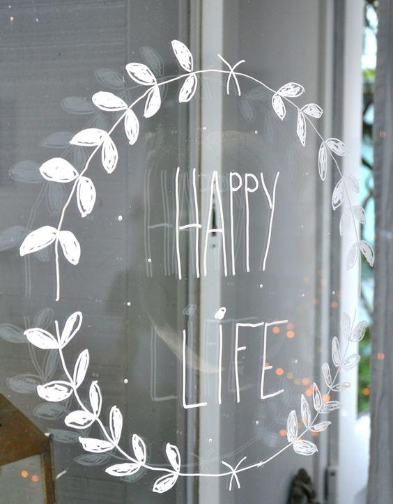 résonances - idées pour fenêtre, vitrine... Changement de texte selon le moment, l'occasion... Au stylo craie sur fenêtre ou miroir.