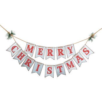 Christmas Galvinized Decorations 2020 Merry Christmas Galvanized Metal Banner | Hobby Lobby | 5356654 in