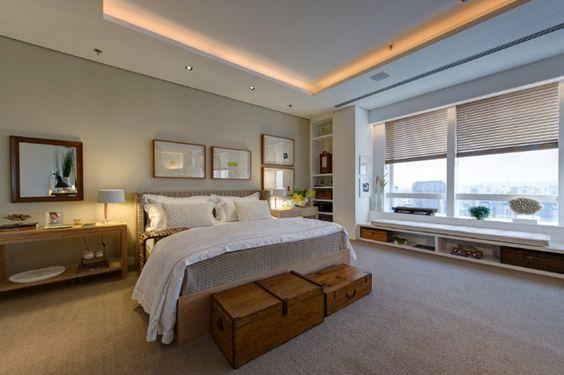 Quarto, rooms, decorations, clean, home, casa, decoração, cama, edredom, frames, mirrors, espelhos, confort, conforto, wood, view, madeira, vista