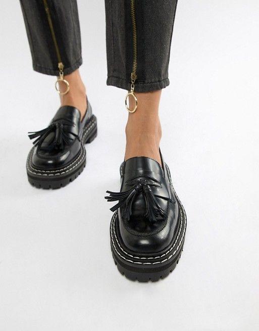 ASOS DESIGN Machine premium leather