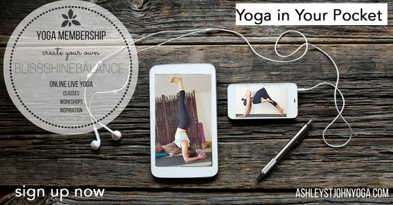 LIVE Yoga Classes, Workshops & MORE with Ashley St. John - the Yoga Teacher in your Pocket!