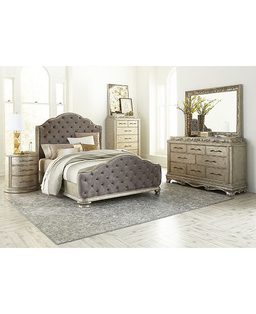 Zarina Demilune Nightstand Created For Macy S Fitted Bedroom
