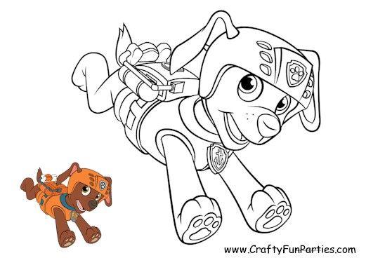 Paw Patrol Color Zuma Paw Patrol Coloring Paw Patrol Coloring Pages Paw Patrol Printables