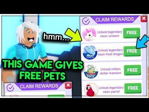 Join This Game For Free Legendary Neon Pets Exposing Secrets Adopt Me Roblox Youtube In 2020 Roblox Free Games Pet Hacks