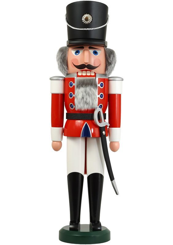 German Nutcrackers | German nutcracker hussar red, height 60 cm / 24 inch, original ...